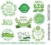 organic bio ecology natural ... | Shutterstock . vector #365230724