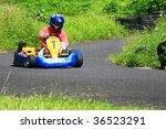 go kart pilot turning left | Shutterstock . vector #36523291
