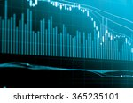financial data on a monitor.... | Shutterstock . vector #365235101