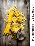 dry pasta in cans and mixed the ... | Shutterstock . vector #365235989
