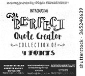 four fonts collection for... | Shutterstock .eps vector #365240639