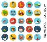 gardening icons set.  | Shutterstock .eps vector #365242949