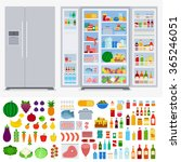 Refrigerator Collection Vector...
