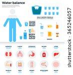 water balance vector flat... | Shutterstock .eps vector #365246057