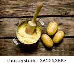 potato food . cooking mashed... | Shutterstock . vector #365253887