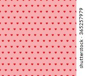 abstract heart seamless pattern. | Shutterstock .eps vector #365257979