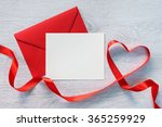 Letter And Curved Red Ribbon O...