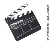 movie clapper isolated on white ... | Shutterstock . vector #365260805