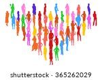 many people isolated  | Shutterstock .eps vector #365262029