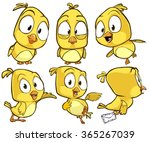 very adorable yellow cartoon... | Shutterstock .eps vector #365267039
