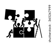 puzzle and people icon vector... | Shutterstock .eps vector #365267999