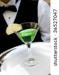 image of an apple martini drink ... | Shutterstock . vector #36527047