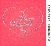 valentines day vintage... | Shutterstock .eps vector #365272571