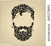 vintage decorative man icon... | Shutterstock .eps vector #365273891
