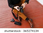 photographer  camera and... | Shutterstock . vector #365274134