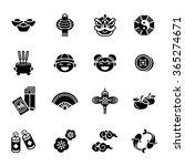 Chinese New Year Icons Set.