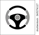 steering wheel on white... | Shutterstock .eps vector #365276117