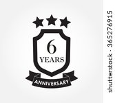 6 years anniversary icon or... | Shutterstock .eps vector #365276915