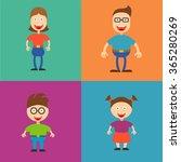 cute cartoon family | Shutterstock .eps vector #365280269