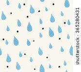 seamless watercolor rainy... | Shutterstock .eps vector #365280431