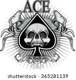 grunge skull coat of arms | Shutterstock .eps vector #365281139