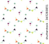 bunting flags and confetti dots ... | Shutterstock .eps vector #365283851