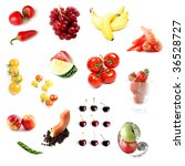 fruits and vegetables isolated... | Shutterstock . vector #36528727
