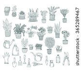 big set of cute hand drawn... | Shutterstock .eps vector #365289467