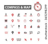 compass  map icons  signs set ... | Shutterstock .eps vector #365298299