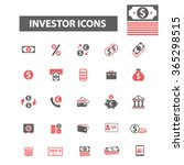investment  icons  signs vector ... | Shutterstock .eps vector #365298515