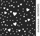 white hearts on grey background ... | Shutterstock .eps vector #365305451