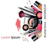 sets of cosmetics on isolated... | Shutterstock .eps vector #365306525