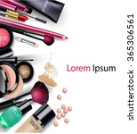sets of cosmetics on isolated... | Shutterstock .eps vector #365306561