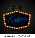 shining retro light banner on... | Shutterstock . vector #365306621