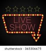 shining retro light banner on... | Shutterstock . vector #365306675