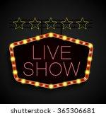 shining retro light banner on... | Shutterstock .eps vector #365306681