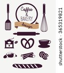 coffee and bakery set | Shutterstock .eps vector #365319821