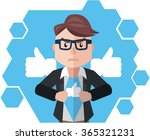 business man social media hero | Shutterstock .eps vector #365321231