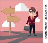 business man confusing way   Shutterstock .eps vector #365326745