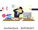 stressful condition icon flat...   Shutterstock .eps vector #365336267