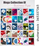 Mega collection of Professional business flyer, stylish brochure, magazine cover, poster & corporate banner design, brochure design template, corporate backgrounds, EPS 10. | Shutterstock vector #365337365