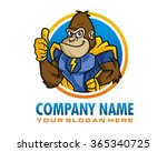 gorilla super mascot cartoon... | Shutterstock .eps vector #365340725