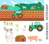 farm in village. elements for... | Shutterstock . vector #365341664