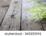 white flowers on wooden... | Shutterstock . vector #365353541