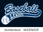 blue baseball league banner... | Shutterstock .eps vector #365356529