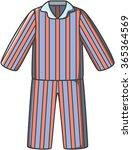 pajamas doodle vector | Shutterstock .eps vector #365364569