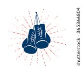 colorful vintage boxing gloves... | Shutterstock .eps vector #365366804