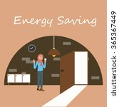 energy saving electricity... | Shutterstock .eps vector #365367449