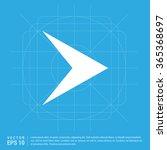 vector next arrow icon. vector... | Shutterstock .eps vector #365368697