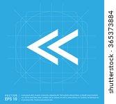 vector back arrow icon. vector... | Shutterstock .eps vector #365373884